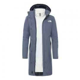 Abrigo The North Face Recycled Suzanne Triclimate gris blanc