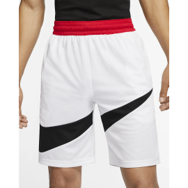 Pantalón baloncesto Nike DRY-FIT HBR blanco/negro hombre