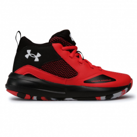 Zapatillas baloncesto Under Armour Lockdown 5 rojo/negro jr