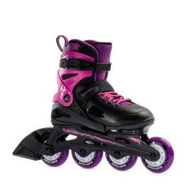 Patines extensibles Rollerblade Fury G negro rosa junior