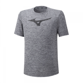 Camiseta running Mizuno Core Graphic RB gris hombre