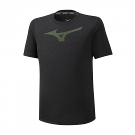 Camiseta running Mizuno Core Graphic RB negro hombre