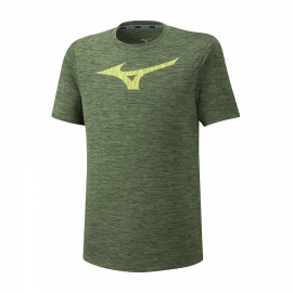 Camiseta running Mizuno Core Graphic RB kaki hombre