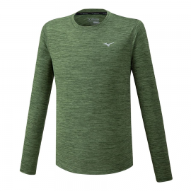 Camiseta running Mizuno Impulse Core LS kaki hombre