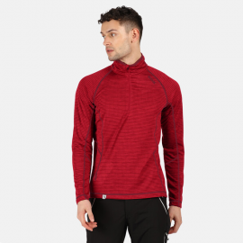 Camiseta 1/2 cremallera Regatta Yonder rojo hombre