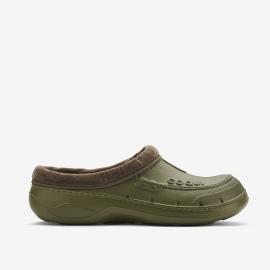 Zuecos Coqui Husky verde/marrón hombre