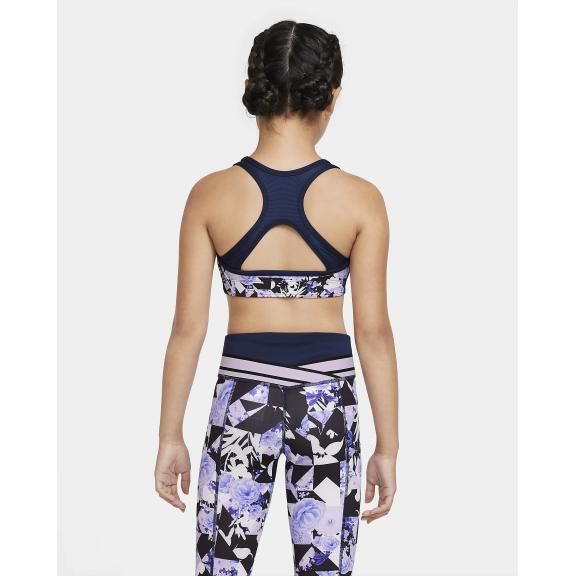 oveja por favor confirmar Buque de guerra  Sujetador deportivo Nike Swoosh negro estampado niña - Deportes Moya