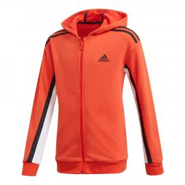 Sudadera adidas Bold Fleece Hoodded naranja junior
