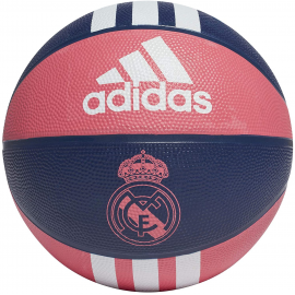 Balón baloncesto adidas Real Madrid 3S azul -rosa