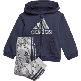 Chándal adidas Logo Fleece Hooded azul bebé