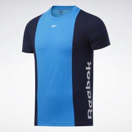 Camiseta Reebok Training Essentials Linear Logo azul hombre