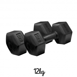 Pesas Iron Gym 6kg x 2 Fixed Hex Dumbbell