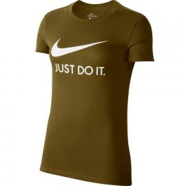 Camiseta Nike JDI Slim verde oliva mujer