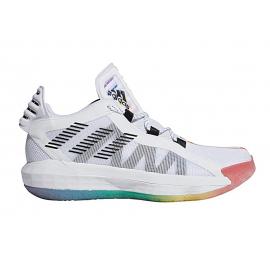 Zapatillas baloncesto adidas Dame 65 GCA blanco/multicolor