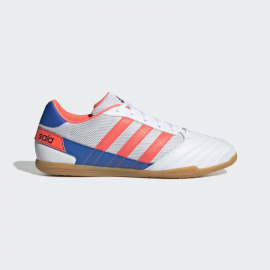 Zapatillas fútbol sala adidas Super Sala blanco azul hombre