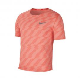 Camiseta running Nike Dri Fit Miller Future Fast rosa fluor