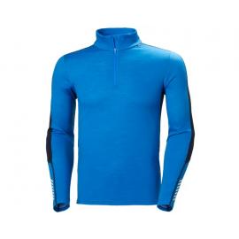 Camiseta 1/2 zip termica Lifa Merino azulon hombre
