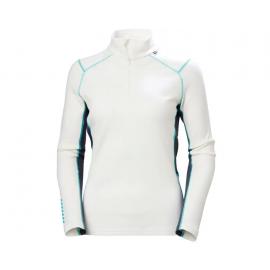 Camiseta 1/2 cremallera Lifa Merino Helly Hansen blanco muje