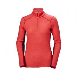 Camiseta 1/2 cremallera Lifa Merino Helly Hansen rojo  mujer