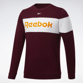 Sudadera Reebok Training Essential Fleece granate hombre