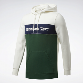 Sudadera Reebok Classic Linear Hoodie verde/blanco  hombre
