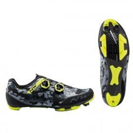 Zapatillas Northwave Rebel 2 camo negro-amarillo Mtb