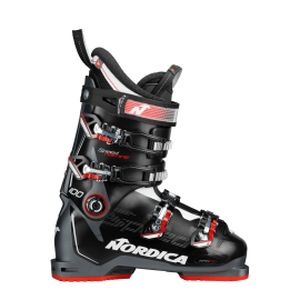 Botas esquí Nordica Speedmachine 100 negro rojo hombre