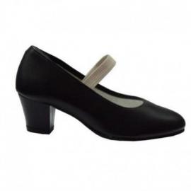 Zapatos flamenca goma negro