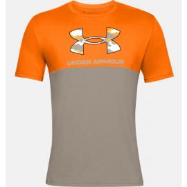 Camiseta Under Armour Camo Big Logo naranja hombre