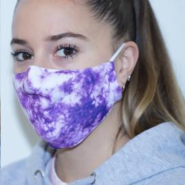Mascarilla protectora reutilizable Eme Tie Dye violeta