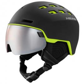 Casco esquí Head Radar negro lima hombre