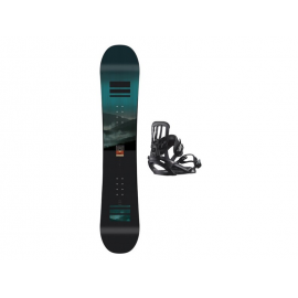 Pack snow Salomon Pulse + Pact negro hombre