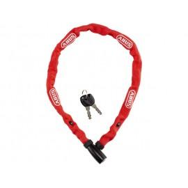 Cadena Abus 1500/110 de llave 4mm recubierta de tela rojo
