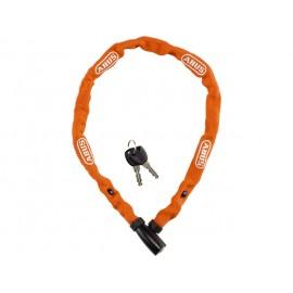 Cadena Abus 1500/110 de llave 4mm recubierta de tela naranja