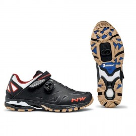 Zapatillas Northwave Spider Plus 2 negro-blanco.naran Mtb-AM