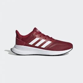 Zapatillas running adidas Runfalcon burdeos/blanco junior
