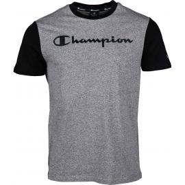 Camiseta Champion Cuello caja 214143 gris jaspeado hombre