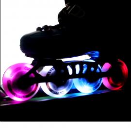 Ruedas patines KRF Spotlight Led 72-85mm rosa 2pk