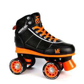 Patines KRF Roller Rental negro naranja