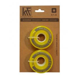 Ruedas patrines KRF ACC School 58x32mm amarillo