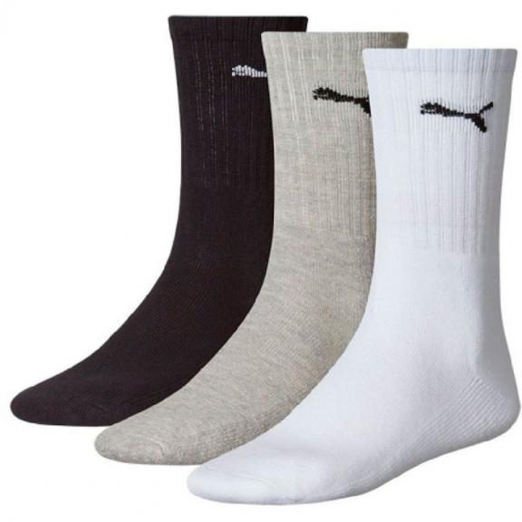 Calcetines Puma Sport 3 pares blanco/gris/negro