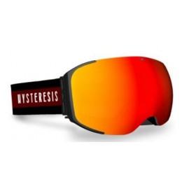 Mascara esquí Hysteresis Freeride negro  lente rojo cinta gr