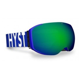 Mascara esquí Hysteresis Freeride azul  lente verde cinta az