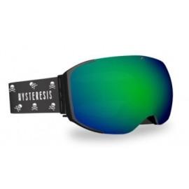Mascara esquí Hysteresis Freeride negro lente verde