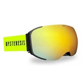 Mascara esquí Hysteresis Freeride negro lente dorado