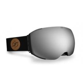 Mascara esquí Hysteresis Freeride negro lente plata negro