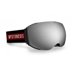 Mascara esquí Hysteresis Freeride negro lente plata granate