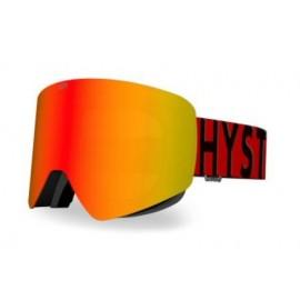 Mascara esquí Hysteresis Illicit negro lente rojo cinta rojo