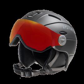 Casco esquí Hysteresis negro visera rojo