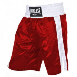 Pantalón boxeo Everlast Pro Boxing Trunks rojo
